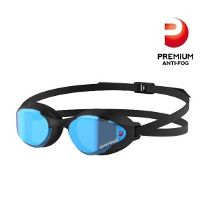 Ascender Mirror Premium Anti-fog Black Flash Blue